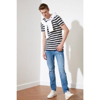 Trendyol Indigo Male Destroy Slim Fit Jeans 34
