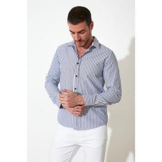 Trendyol Indigo Men Slim Fit Shirt Collar Shirt pánské S