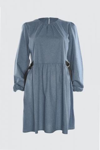 Trendyol Indigo Waist Detailed Dress dámské 34