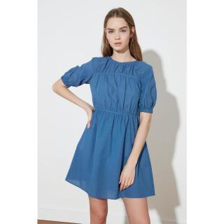 Trendyol Indigo Waist Ruffle Dress dámské 36