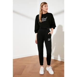Trendyol Jogger Knitted Tracksuit bottom dámské Black S