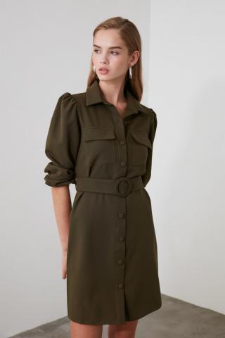 Trendyol Khaki Arch dress dámské 36