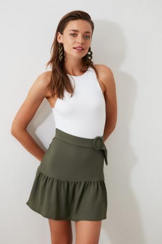 Trendyol Khaki Arched Skirt dámské 36