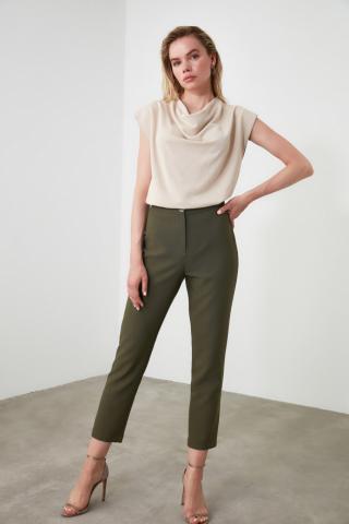 Trendyol Khaki Basic Pants dámské 34