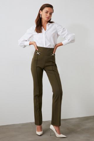 Trendyol Khaki Belt Detailed Pants dámské 34