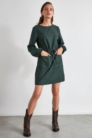 Trendyol Khaki Binding and Pocket Detailed Dress dámské 34