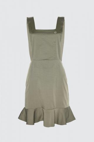 Trendyol Khaki Button Detailed Volile Jile Dress dámské 34