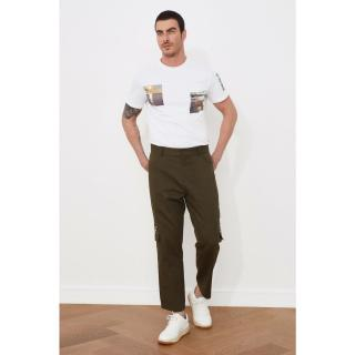 Trendyol Khaki Male Multi-Pocket Belt Certain Pants 38