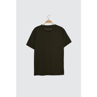 Trendyol Khaki Men Textured New T-Shirt pánské S