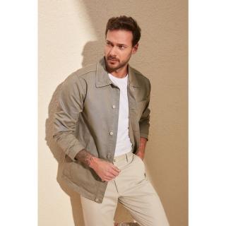 Trendyol Khaki Mens Button Jacket pánské M