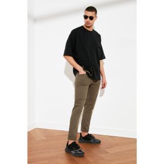 Trendyol Khaki Mens Skinny Fit Pants pánské 34