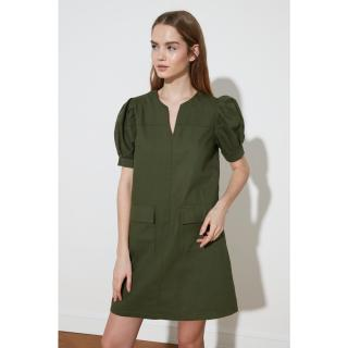 Trendyol Khaki Pocket Detail Dress dámské 34