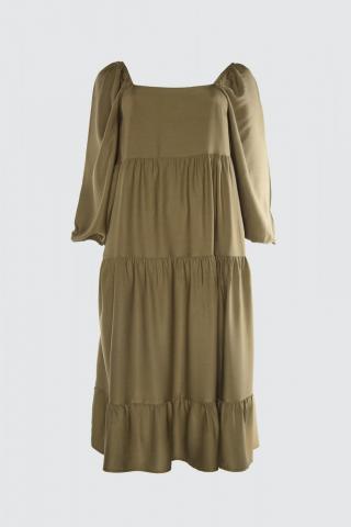 Trendyol Khaki Wide Cut Dress dámské 34