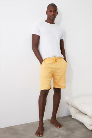 Trendyol Knitted Shorts with Yellow Slogan & Bermuda pánské S