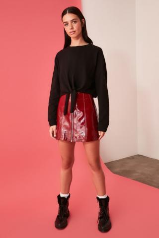 Trendyol Knitted Sweatshirt with Black Binding Detail dámské XS