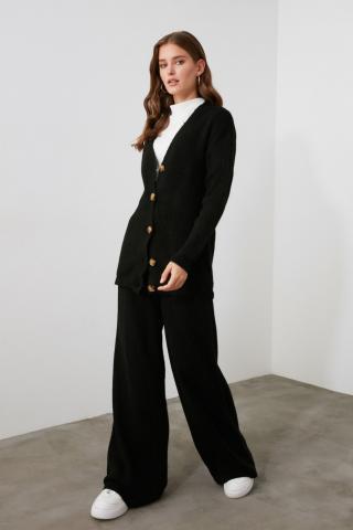 Trendyol Knitwear Pants with Elasticed Black Back dámské S