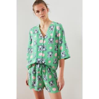 Trendyol Koala Patterned Woven Pyjama Set dámské Multi 34