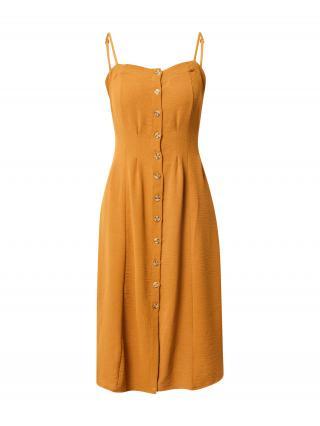 Trendyol Košeľové šaty  farba ťavej srsti dámské 38