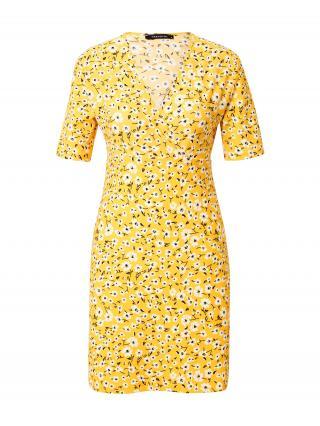 Trendyol Letné šaty  žltá / biela / čierna dámské 34