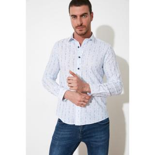 Trendyol Light Blue Male Slim Fit Shirt AÇIK MAVİ S