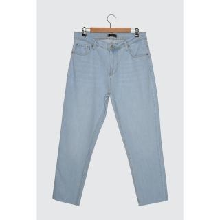 Trendyol Light Blue Mens Relax Fit Jeans pánské AÇIK MAVİ 34