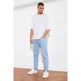 Trendyol Light Blue Mens Relax Fit Jeans pánské AÇIK MAVİ 34