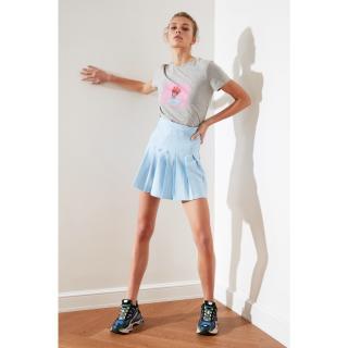 Trendyol Light Blue Pleated Skirt dámské AÇIK MAVİ 34