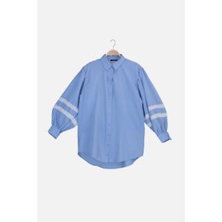 Trendyol Light Blue Shirt Collar Tunic dámské 36
