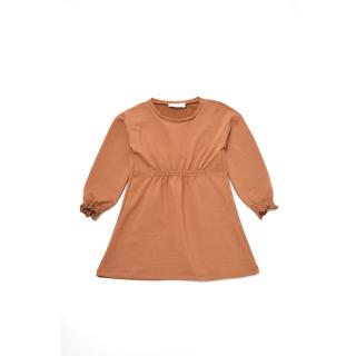 Trendyol Light Brown Pleated Girl Knitted Dress dámské Other 6-7 Y