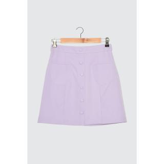 Trendyol Lila Button Detail Skirt dámské Lilac 34