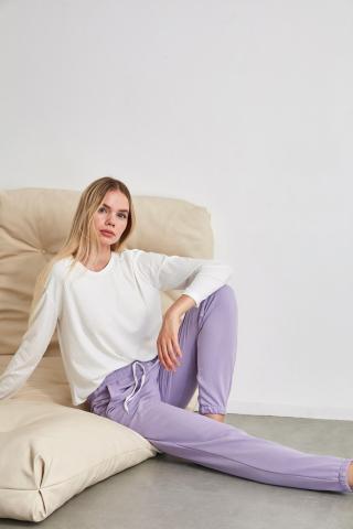 Trendyol Lila Jogger Knitted Pyjamas bottom dámské Lilac S