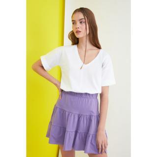 Trendyol Lila Knitted Skirt dámské Lilac XS