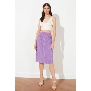 Trendyol Lila Pilise knitted skirt dámské Lilac XS