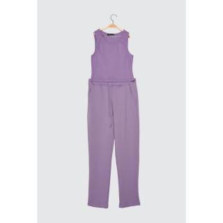 Trendyol Lila Strap Crop Knitted Bottom-Top Tool dámské Lilac XS