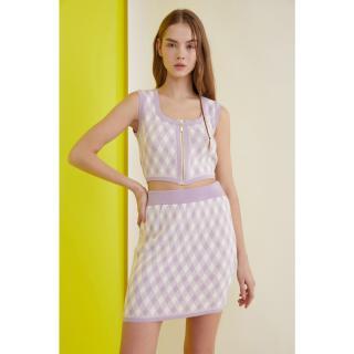 Trendyol Lila Zip Knitwear Bottom-Top Tool dámské Lilac S