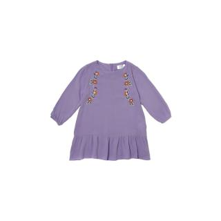 Trendyol Lilac Embroidered Girl Knitted Dress dámské Other 6-7 Y