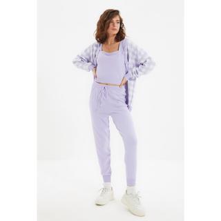 Trendyol Lilac Jacquard Knitwear Bottom-Top Set dámské Other S