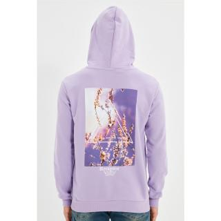 Trendyol Lilac Men Regular Fit Hoodie Sweatshirt pánské Other L