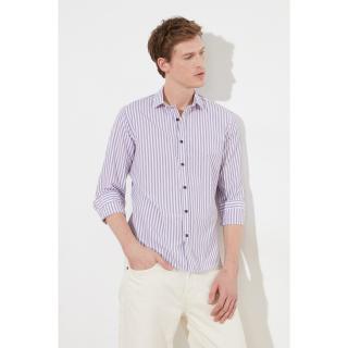 Trendyol Lilac Men Slim Fit Shirt Collar Shirt pánské S