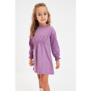 Trendyol Lilac Pleated Girl Knitted Dress dámské Other 6-7 Y
