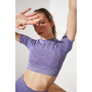 Trendyol Lilac Seamless Blouse dámské XS