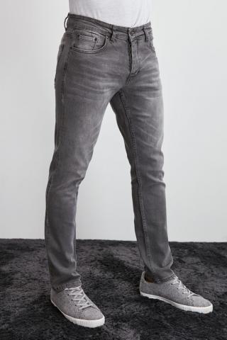 Trendyol Mens Slim Fit - Jeans pánské Grey 31
