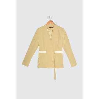 Trendyol Mink Belt Detail Jacket dámské Beige 34
