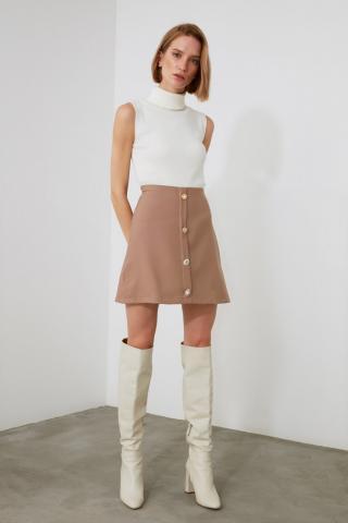 Trendyol Mink Button Skirt dámské 34