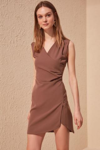 Trendyol Mink Cruiseneck Dress dámské 34