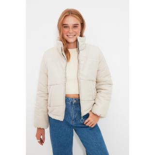 Trendyol Mink Zipper Closure Inflatable Coat dámské Other L