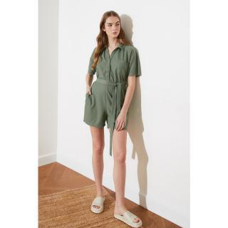 Trendyol Mint Belt Knitted Coverall dámské XS