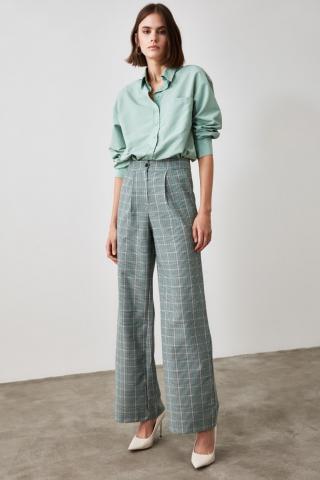 Trendyol Mint Boyfriend Shirt dámské 36