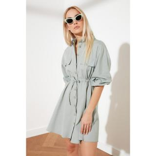 Trendyol Mint Button Shirt Dress dámské 42