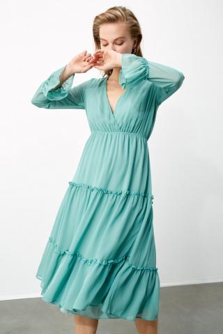 Trendyol Mint Buzgü Detailed Dress dámské 34